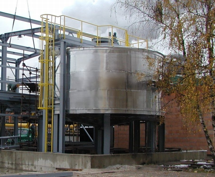Reaction tank<br />SUAS Vresova, reaction tank inside rubberized.